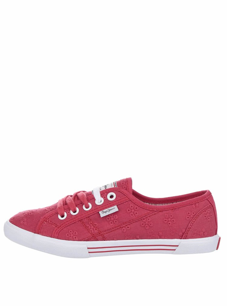 Pantofi sport roșii Pepe Jeans Aberlady Anglaise