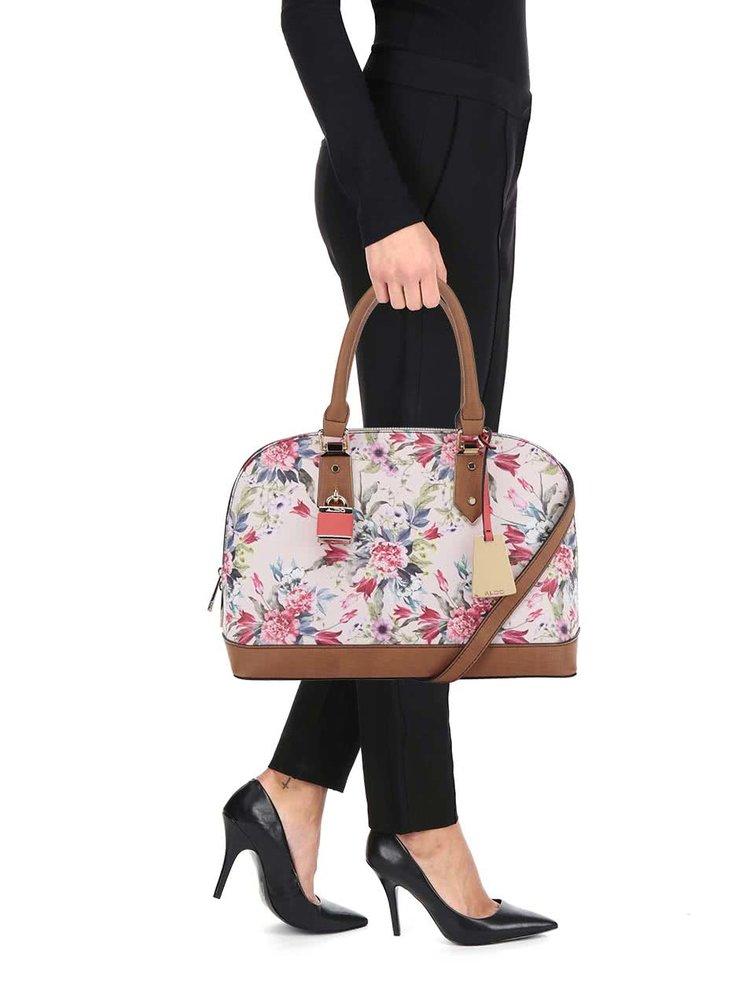 Růžová květovaná dámská kabelka ALDO Yilari