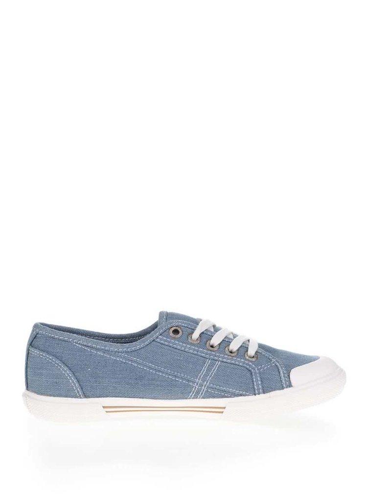 Pantofi sport albastri Pepe Jeans Abernew din denim