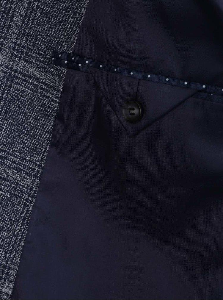 Sacou albastru & gri Selected Homme Done-Devon slim fit cu model in carouri