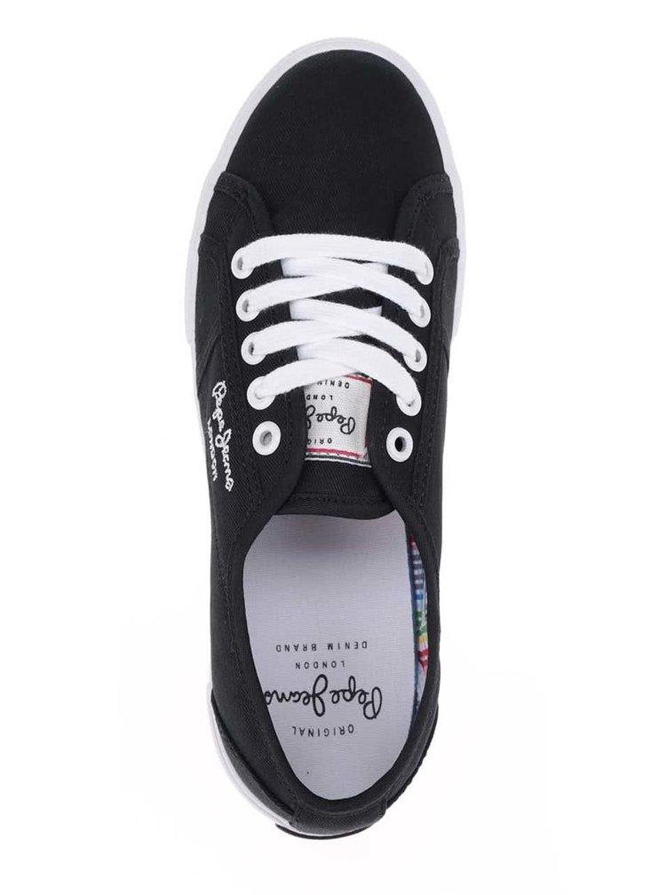 Pantofi sport negri Pepe Jeans  Aberlady Basic