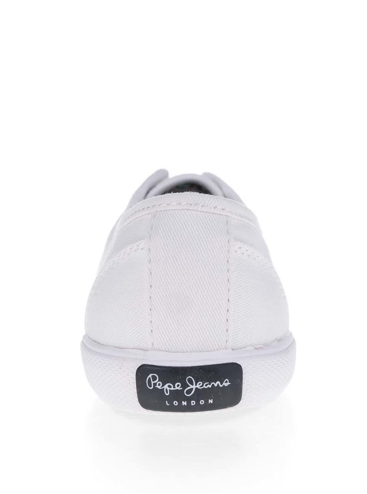 Pantofi sport albi Pepe Jeans  Aberlady Basic
