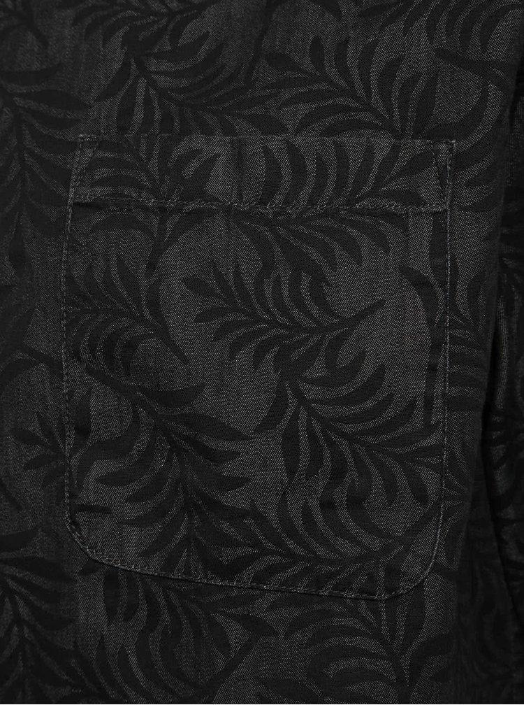 Cămașă gri închis ONLY & SONS Clement cu imprimeu