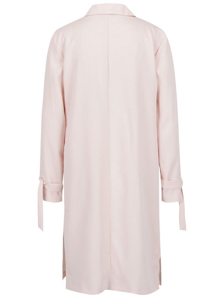 Světle růžový lehký kabát Miss Selfridge
