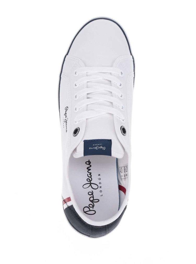 Modro-bílé pánské tenisky Pepe Jeans Aberman Print