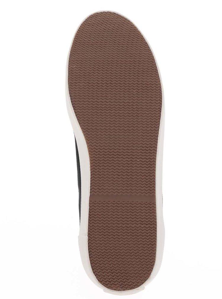 Pantofi sport negri Pepe Jeans Industry Tokio Court cu model