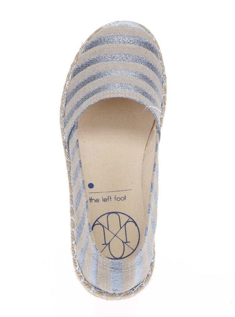 Pantofi slip on bej in dungi cu aspect stralucitor OJJU