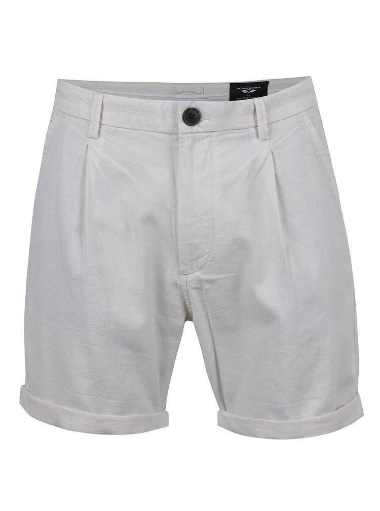 Pantaloni scurți crem Selected Homme AB