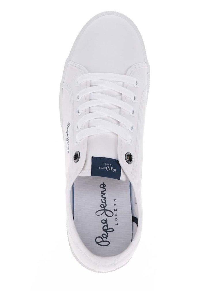 Bílé pánské tenisky Pepe Jeans Aberman