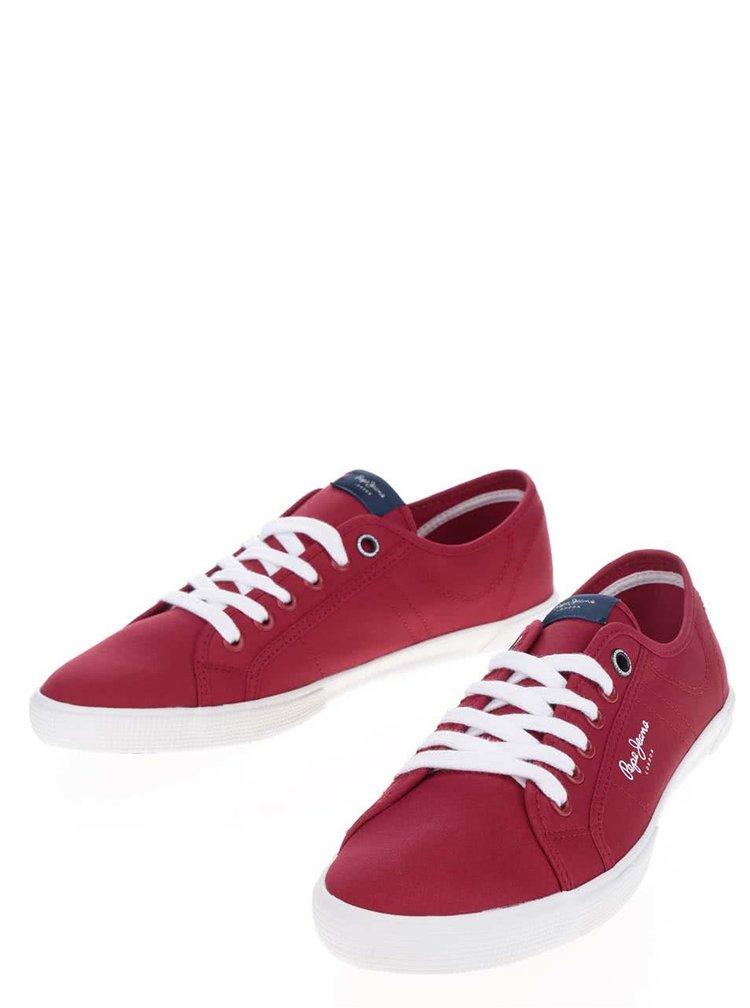 Pantofi sport roșii  Pepe Jeans Aberman