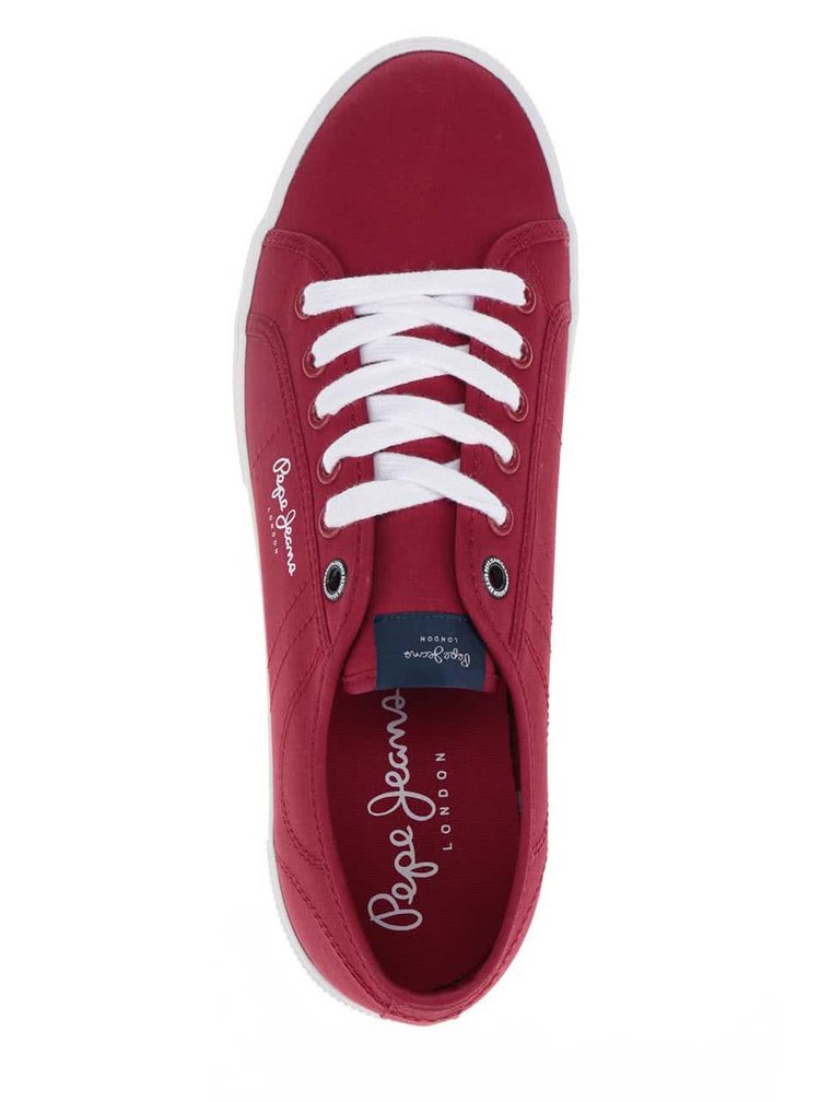 Červené pánské tenisky s detaily Pepe Jeans Aberman