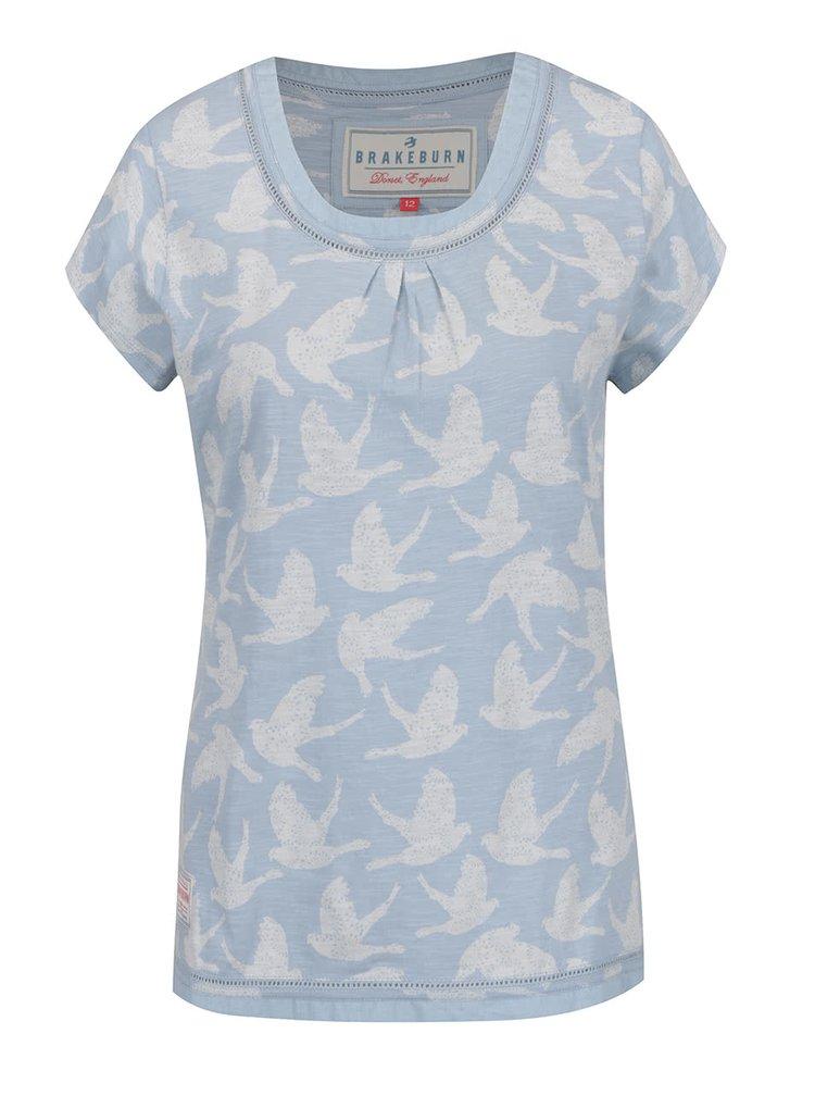 Světle modré vzorované tričko Brakeburn