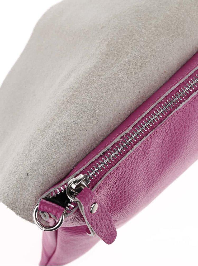 Geanta crossbody roz din piele ZOOT