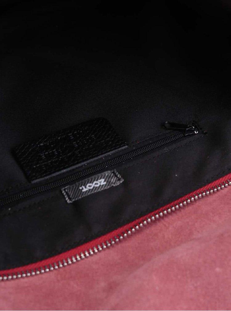 Červená kožená crossbody kabelka ZOOT