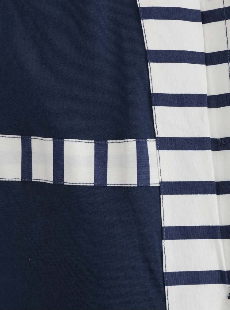 Jacheta crem&albastru Brakeburn cu model in dungi