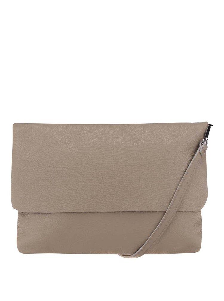 Béžová kožená crossbody kabelka/psaníčko ZOOT