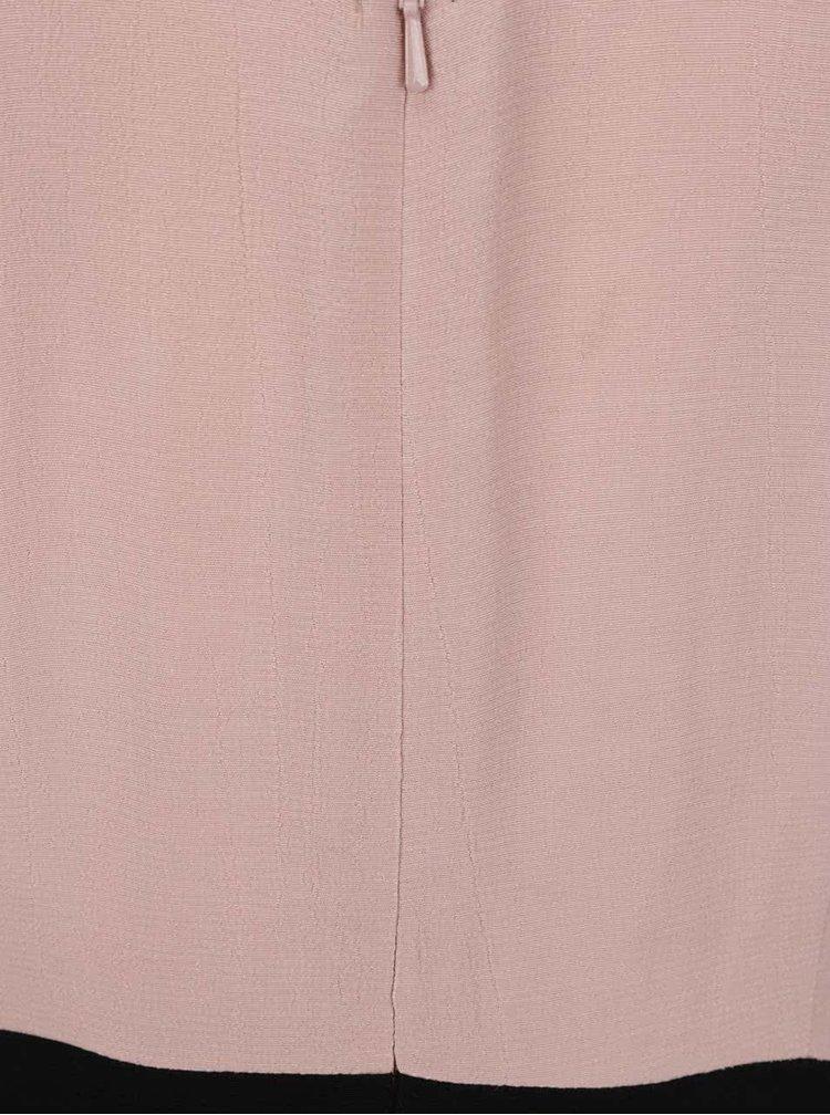 Růžovo-černé šaty s krajkou na rukávech Miss Selfridge