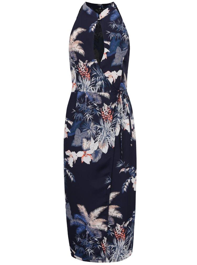Rochie maxi bleumarin Miss Selfridge cu imprimeu floral