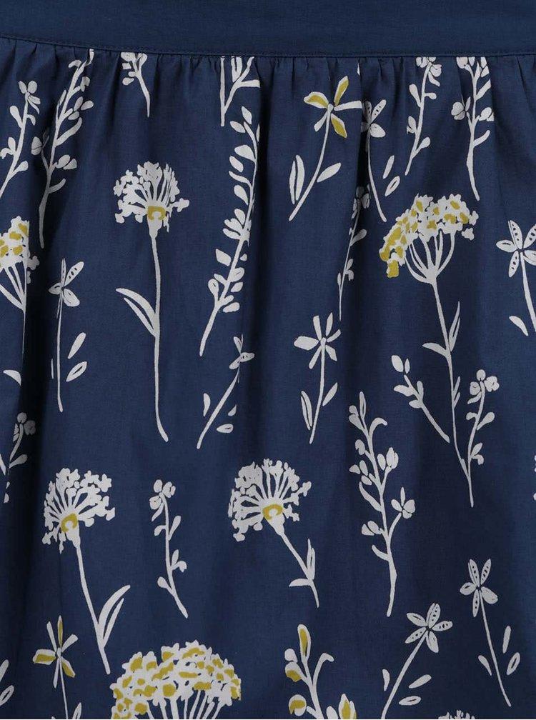 Fusta albastru inchis Brakeburn cu imprimeu floral