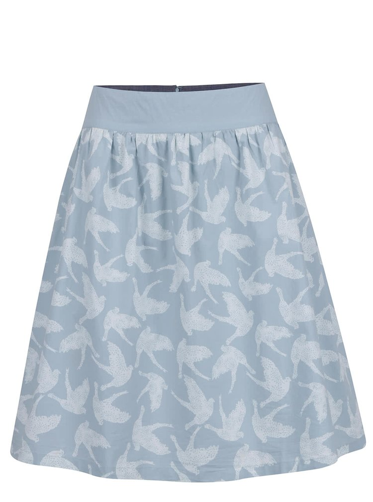 Světle modrá vzorovaná sukně Brakeburn