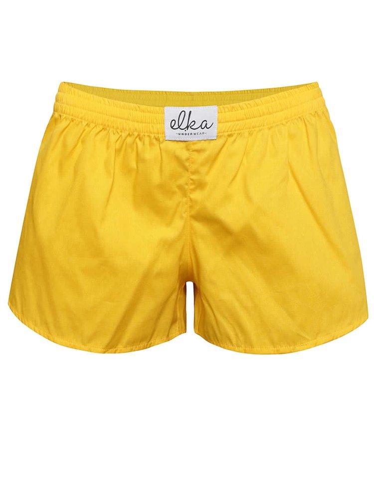 Žluté dámské trenýrky El.Ka Underwear