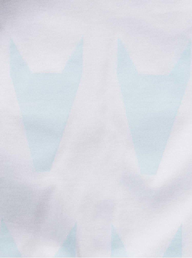 """""""Dobré"""" dámské modro-bílé tričko City Souls by Elajediova"""