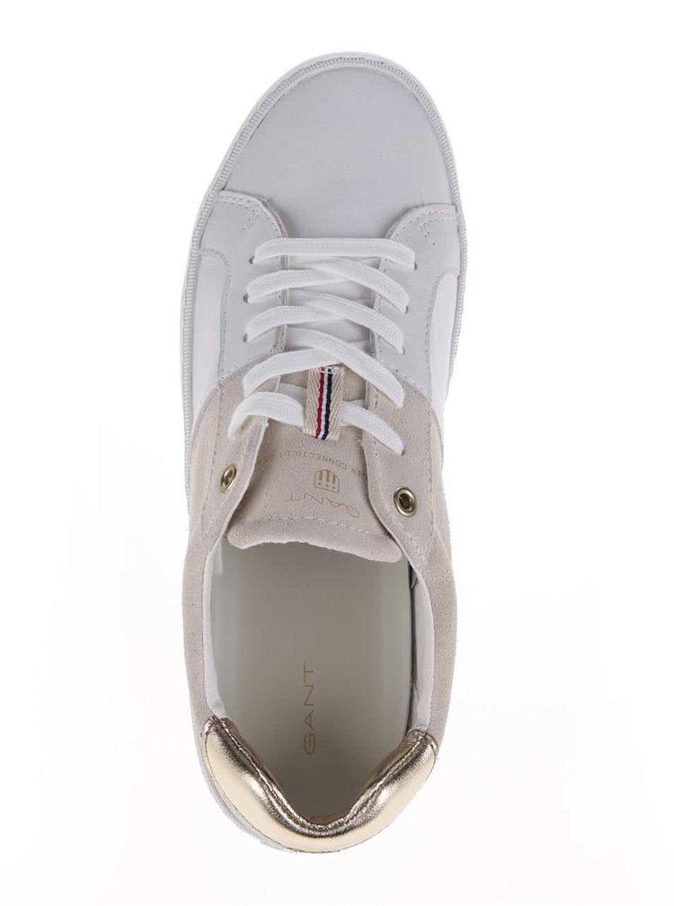 Béžovo-bílé dámské kožené tenisky GANT Alice
