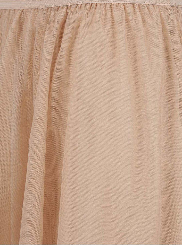 Béžová tylová midi sukně ONLY Maja