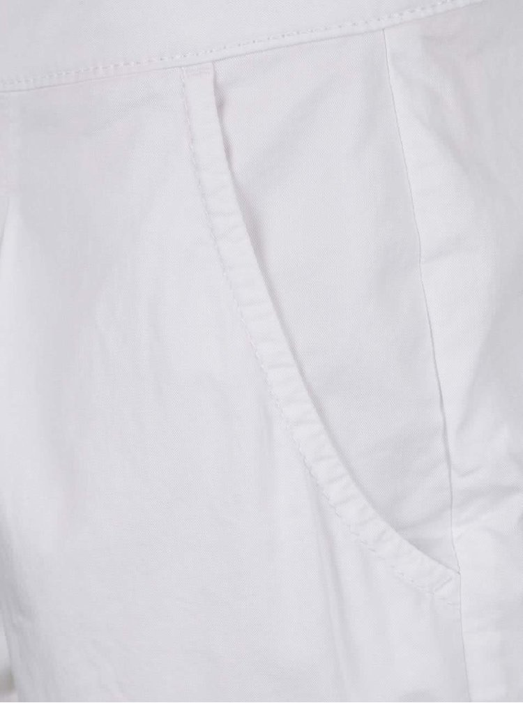 Pantaloni scurți albi ONLY Robyn din bumbac