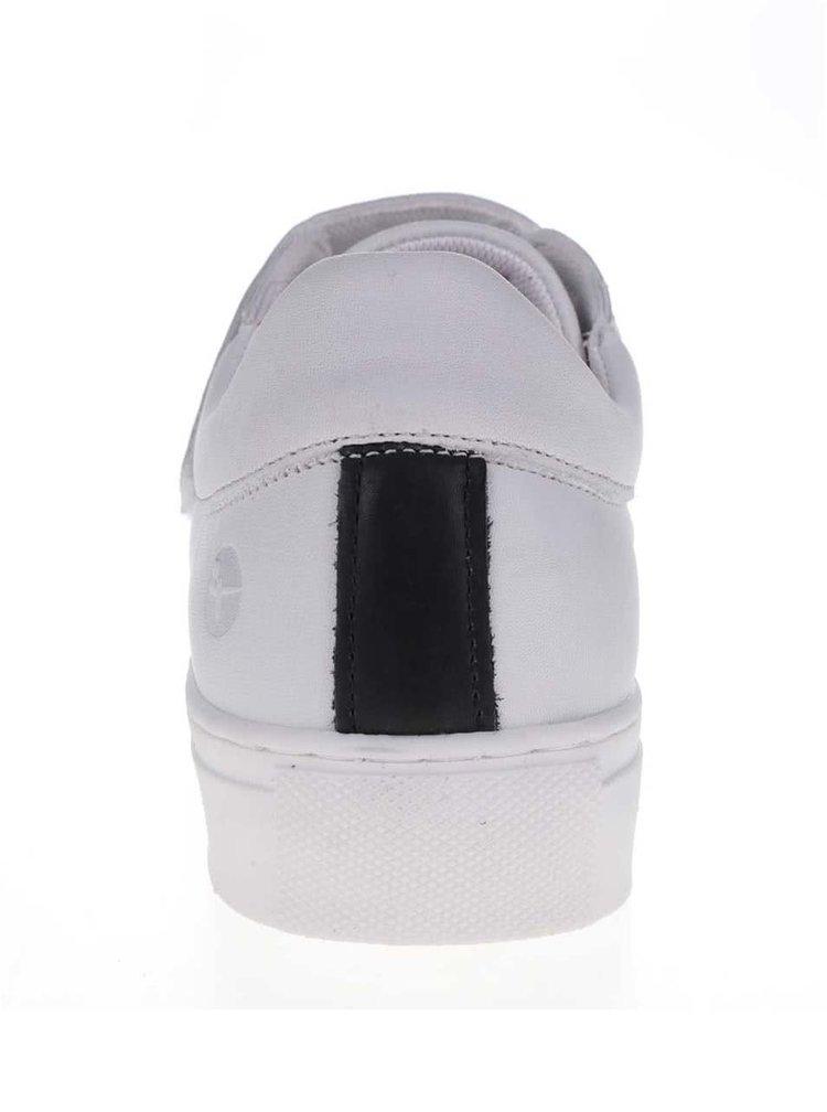 Černo-bílé tenisky na suchý zip Tamaris