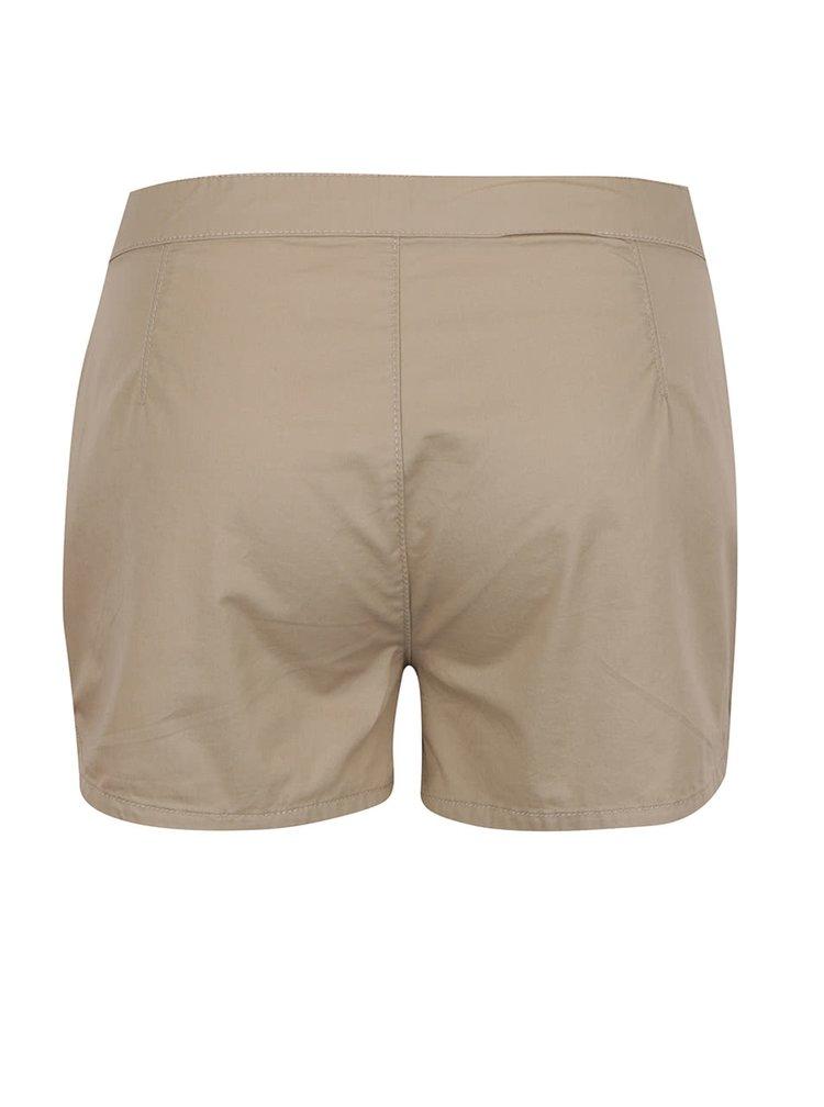 Pantaloni scurti bej ONLY Robyn din bumbac
