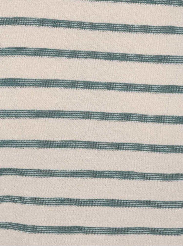Krémové triko s modrými pruhy a krátkým rukávem Selected Homme Kris