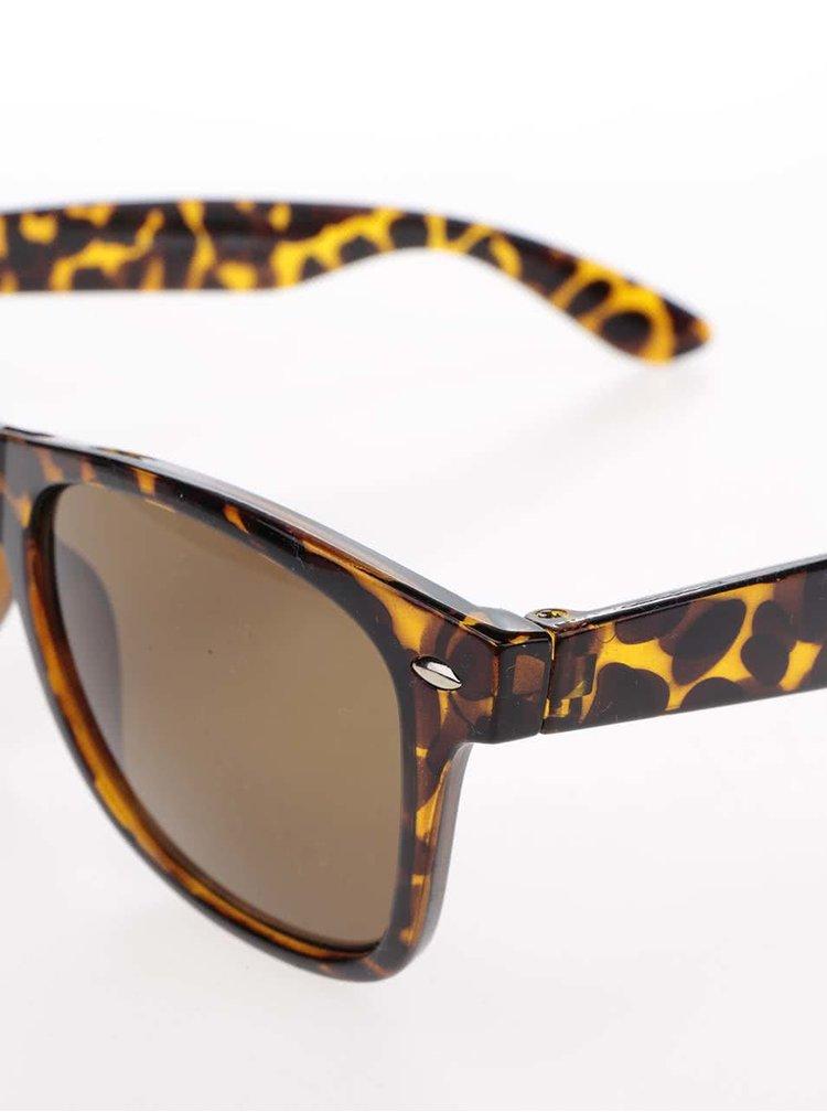Hnědé vzorované sluneční brýle ONLY Basic