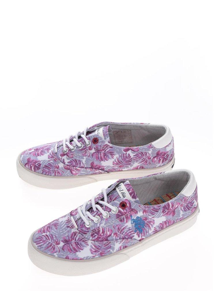 Tenisi cu print floral mov pentru femei U.S. Polo Assn.  Ripley