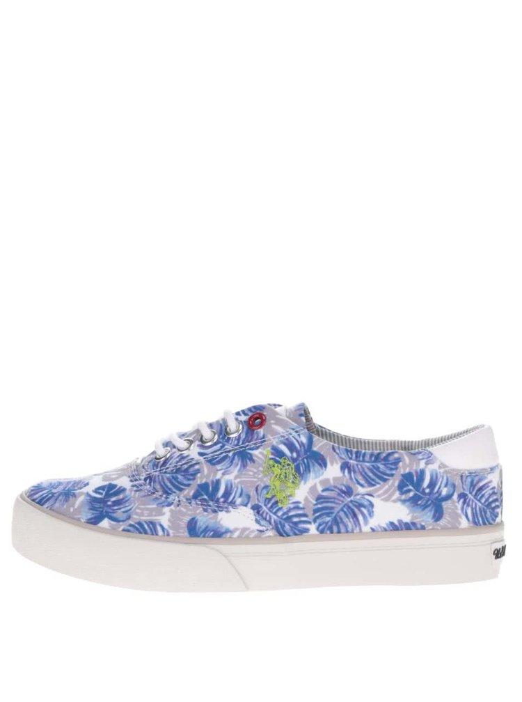 Pantofi sport crem&albastru U.S. Polo Assn.  Ripley  pentru femei