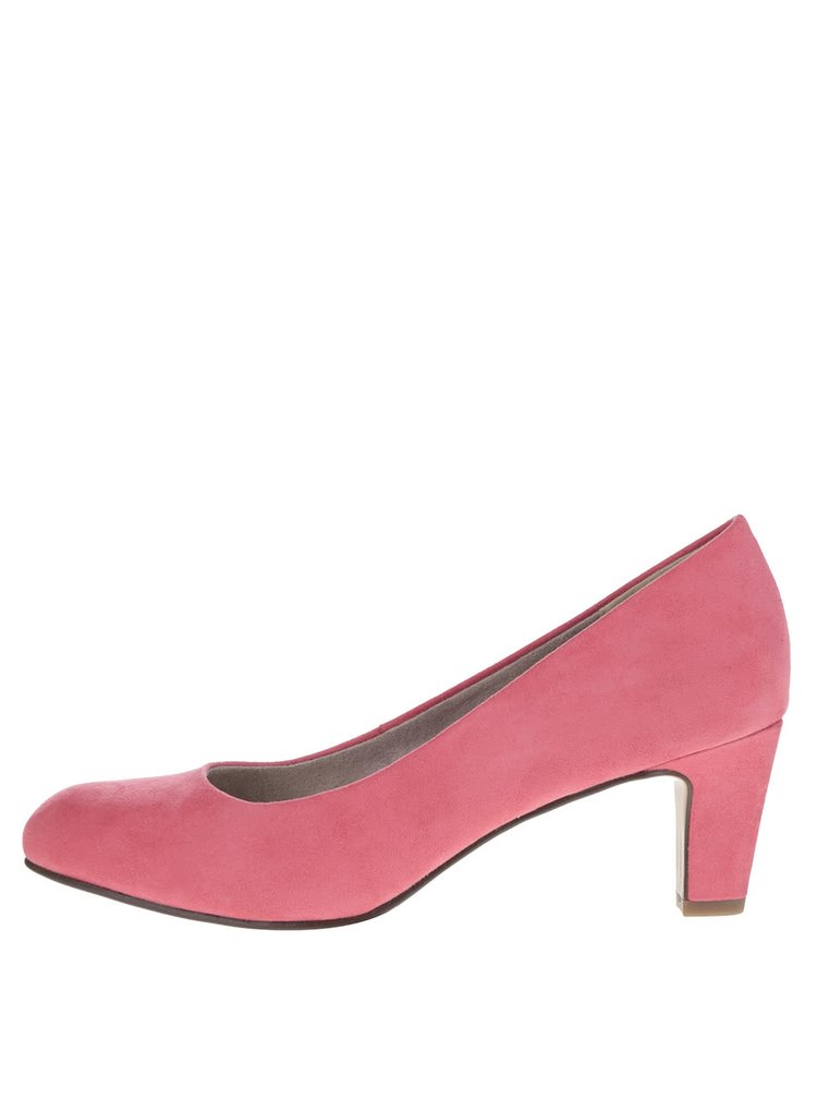 Pantofi rosii Tamaris cu toc
