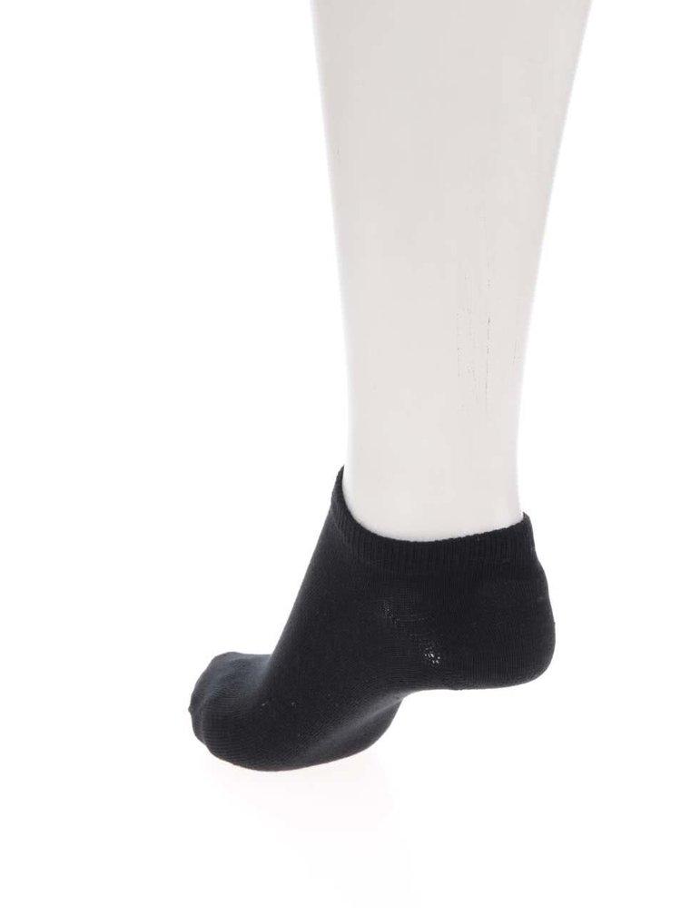 Sada tří párů kotníkových ponožek v bílé, černé a šedé barvě ONLY Lulu