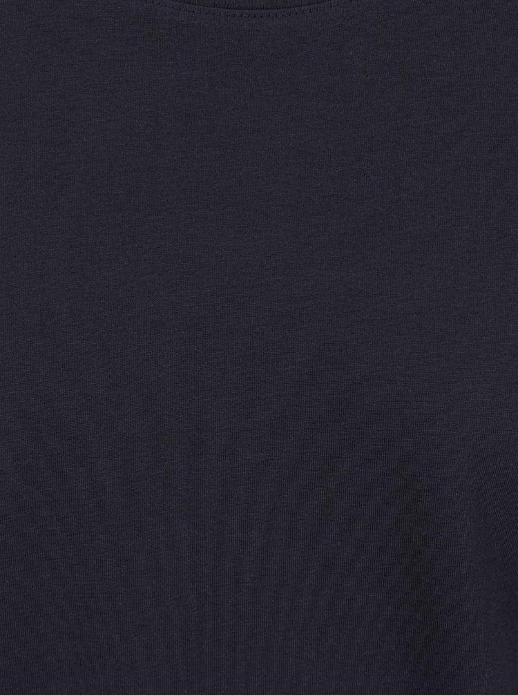 Tmavě modré triko s krátkým rukávem Selected Homme Pima