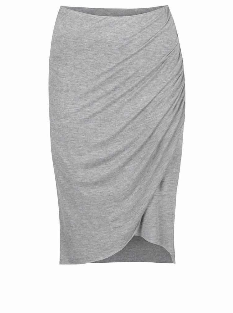 Šedá asymetrická sukně ONLY Melanie