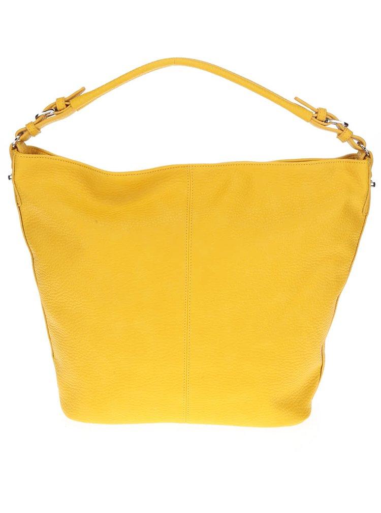 Žlutá kabelka s třásní U.S. Polo Assn.