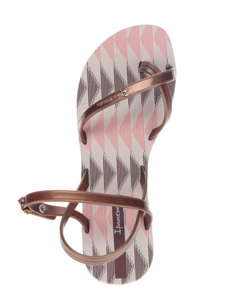 Hnědé dámské páskové sandály Ipanema Sandal