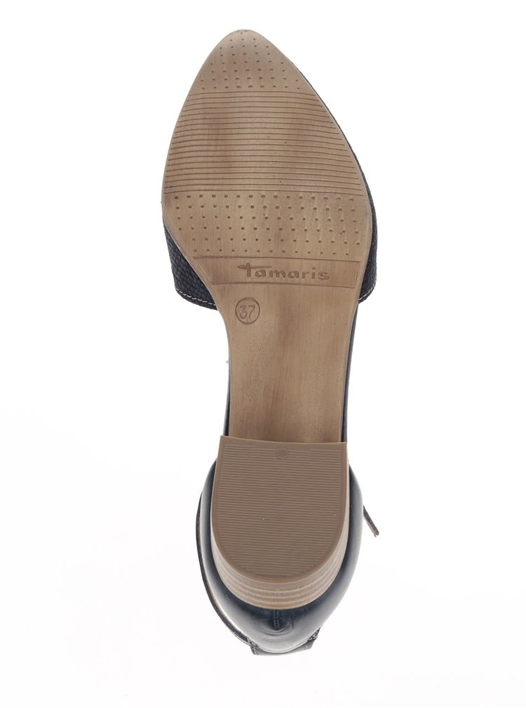 Sandale albastru închis Tamaris din piele