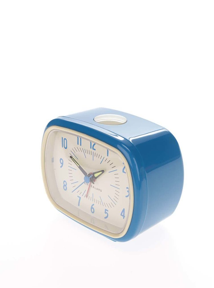 Modrý retro budík Kikkerland