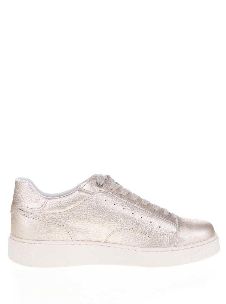 Pantofi sport aurii Tamaris din piele