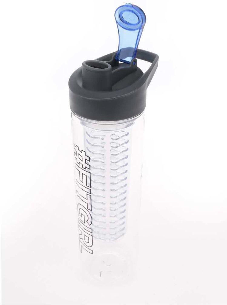 Filtrační láhev na vodu s potiskem Loooqs Fit Girl