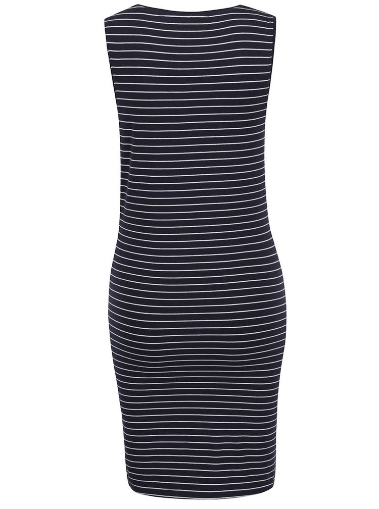 Tmavě modré pruhované šaty bez rukávů ONLY Cornelia