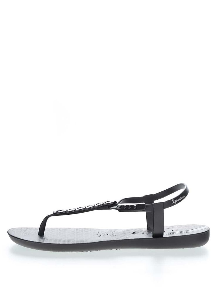 Sandale flip-flop negre Ipanema Sandal cu detaliu zale
