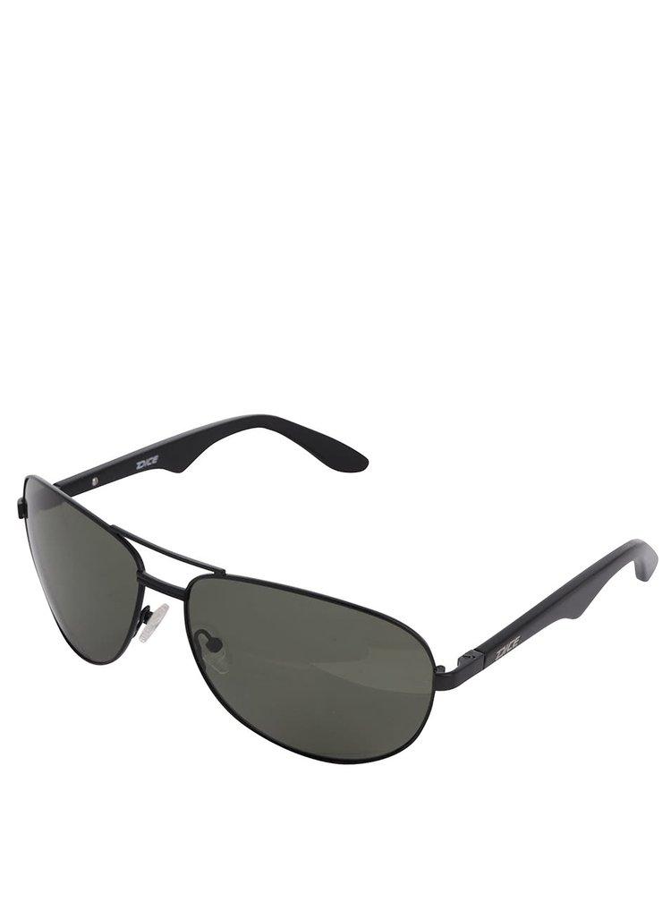 Černé pánské sluneční brýle se zelenými skly Dice