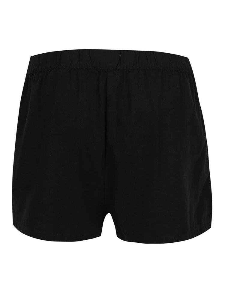 Pantaloni scurți negri VERO MODA Milo cu buzunare oblice