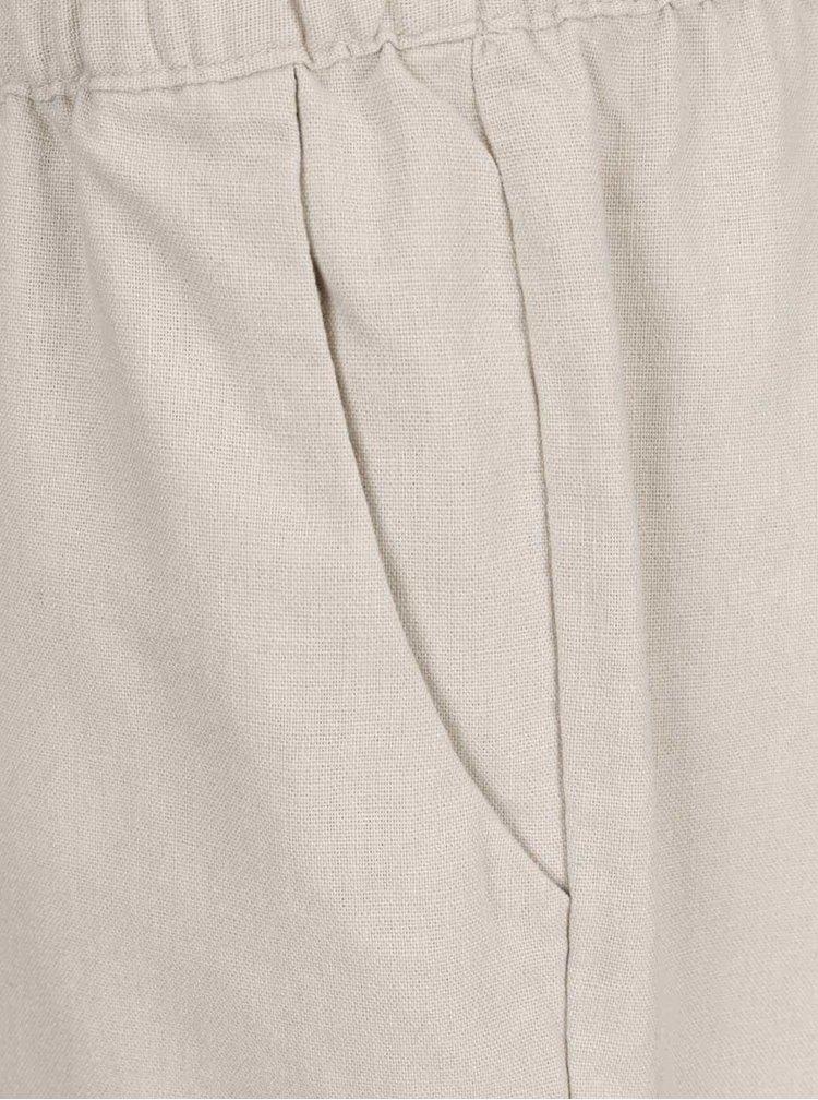Pantaloni scurti bej Vero Moda Milo cu buzunare oblice